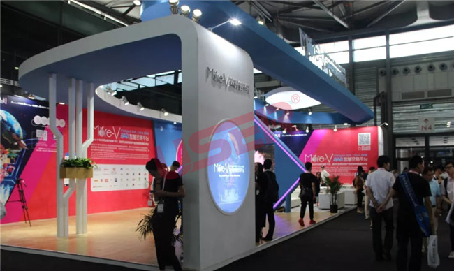 Together with more-v, USER promote the new trend of the intelligent lcd display in Shanghai China food expo 2018